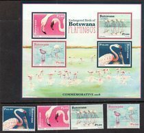 BOTSWANA, 2018, MNH, BIRDS, FLAMINGOS, 4v+ SHEETLET - Flamingo