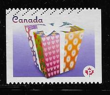 CANADA 2011, USED #2435-35i, CELEBRATION ,PAIR ,  Gift Box Ribbons Bow From Bklet #400 - Carnets