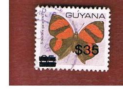 GUYANA - SG 2637a -  1994  BUTTERFLIES: SIDERONE GALANTHIS (OVERPRINTED)     - USED - Guiana (1966-...)