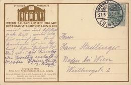DR Off. Postkarte Nr.14 EF Minr.85I SST Int. Baufach-Ausst. Leipzig 27.6.13 - Deutschland