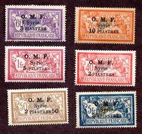 Syrie  N°68/73 N* TB Cote 67 Euros !!!RARE - Syrie (1919-1945)