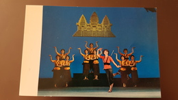 2 PCs Lot - China, Folk Dance Of Kampuchea (Cambodia) - Old Postcard - Cambodia
