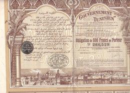 Tunisie , Obligation De 1907 Du Gouvernement Tunisien - Aandelen