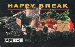 CARTE A PUCE JEDE Happy Break DISTRIBUTEUR DE BOISSONS - Cartes De Salon Et Démonstration