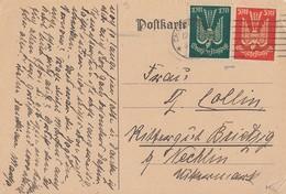DR Karte Mif Minr.215,218 Charlottenburg 12.12.22 Geprüft - Deutschland
