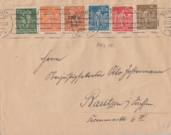 DR Brief Mif Minr.187,189,239,240,242,258 Berlin 23.2.23 - Deutschland