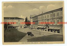CERVIGNANO DEL FRIULI - PIAZZA UNITA' F/GRANDE VIAGGIATA 1951 ANIMATA - Udine