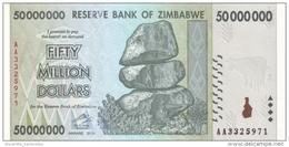 ZIMBABWE 50 MILLION DOLLARS 2008 P-79 UNC  [ZW170a] - Zimbabwe