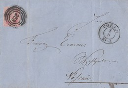 Preussen Brief EF Minr.6 K2 Coeln 5.6. Nr.-St.258 - Prusse