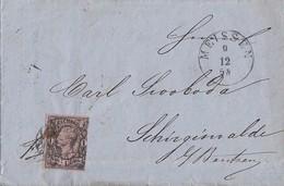 Sachsen Brief EF Minr.9 Meissen 9.12.58 - Saxe