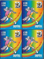 Albania Stamps 2010. FIFA WORLD CUP, SOUTH AFRICA 2010 Football. Block Of 4. MNH - Albania