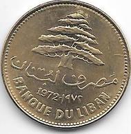 *lebanon 25 Piastres 1972 Km 27.1  Unc - Liban