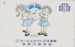 RARE Télécarte Japon / 110-011 - SCOUTISME - GIRL SCOUT - SCOUTING Japan Phonecard - PFADFINDER - 194 - Personen