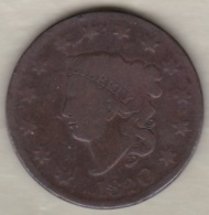 USA .ONE CENT 1820 .LARGE CENT .CORONET HEAD - 1816-1839: Coronet Head (Testa Coronata