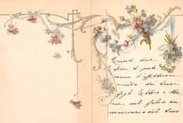 """0379 """"FIORI - LIBERTY"""" BIGLIETTO AUGURALE INVIATO 1897 - Saisons & Fêtes"""