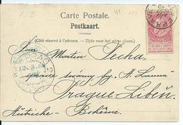 Fantasiekaart  Met OCB 58 --afstempeling EPRAVE Naar Bohemen - COBA 4 - 1893-1900 Fine Barbe