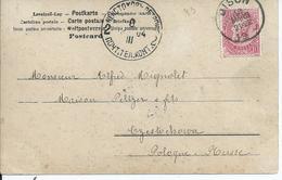 Fantasiekaart  Met OCB 58 --afstempeling DISON Naar Russisch Polen - 1893-1900 Fine Barbe