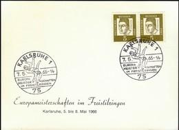 Germany Karlsruhe 1966 / Wrestling / European Championship In Free Style - Ringen