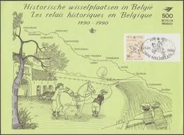 Belgique 1990 COB 2350HKS1. Carte Souvenir Verte Oblitérée Malines / Mechelen - Cartes Souvenir