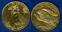USA 20 Dollar 1933 Replik 2005 Vergoldet - Vereinigte Staaten