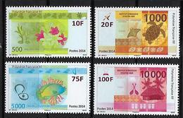 """Polynésie YT 1048 à 1049 """" Nouveaux Billets """" 2014 Neuf** - Nuevos"""