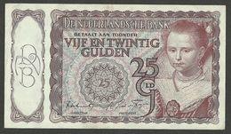 NETHERLANDS 25 GULDEN 1944 HET PRINSESJE II, VF/XF - ZF/PR TYPE 1 P-60 - [2] 1815-… : Koninkrijk Der Verenigde Nederlanden
