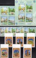 50 Years EUROPA Kirgisien 449/4B,Bosna 339/2A/B,VB+Block 13B ** 235€ Minarett Basilika Venezia Blocs Sheets Bf CEPT - Kyrgyzstan