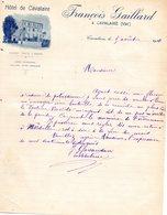 HOTEL DE CAVALAIRE- FRANCOIS GAILLARD   CAVALAIRE VAR - COURRIER - 1900 – 1949