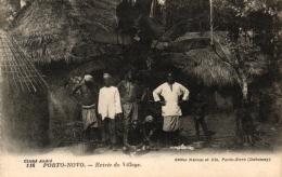Dahomey, Porto-Novo, Entree Du Village, Um 1910/20 - Dahome