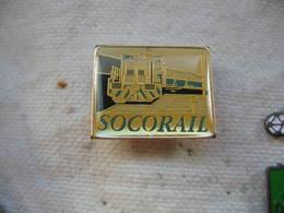 Pin's Sté SOCORAIL, Entreprises De Manutention, De Levage, Travaux Ferrovieres - TGV