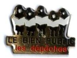 PRESSE - P116  - LE BIEN PUBLIC / LES DEPECHES - Verso : LA BOITE A PIN'S - Medias