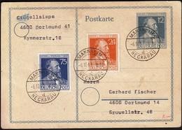 Germany Mannheim 1947 / Heinrich Von Stephan / American,British And Russian Zone / Postal Stationery - Gemeinschaftsausgaben