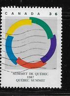 CANADA, 1987, # 1146,  QUEBEC SUMMIT SYMBOL  SINGLE USED - 1952-.... Règne D'Elizabeth II