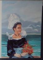 Petit Calendrier De Poche 2000 Peinture Tableau Pouchard - Bretonne Costume Coiffe - Bretagne Fouesnant - Calendars
