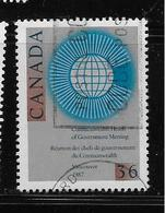 CANADA, 1987, USED ,  # 1147, COMMONWEALT EMBLEM, - 1952-.... Règne D'Elizabeth II