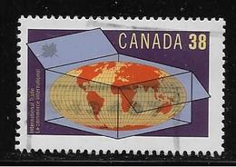 CANADA 1989, USED  # 1251, INTERNATIONAL TRADE: WORLD IN CARTON. - 1952-.... Règne D'Elizabeth II