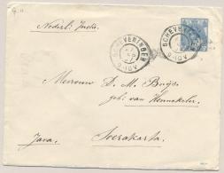 Nederland - 1907 - 12,5 Cent Bontkraag, Envelop G11 Van Scheveningen Via Maos Naar Soerakarta / Nederlands Indië - Entiers Postaux