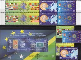 50 Years CEPT Salomon Block 84,Bosnia 419/2+2x 4-Block ** 53€ Stamps ESPANA 1501 NL 807 Ss Blocs M/s Sheets Bf 2005 - Joint Issues