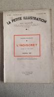 LA PETITE ILLUSTRATION L'INDISCRET PAR EDMOND SEE  JUILLET 1934 - Theatre