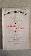 LA PETITE ILLUSTRATION FAISONS UN REVE COMEDIE DE SACHA GUITRY JANVIER 1934 - Théâtre