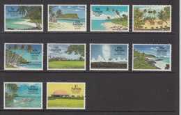 1995 Samoa Tourism Local Scenes Beaches  Complete Set Of 10 MNH - Samoa