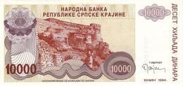 Croatia R31    10.000   Dinars 1993 Unc - Croacia