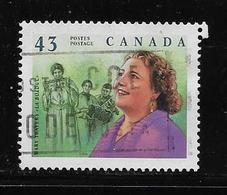 "CANADA, 1994. USED # 1526i, GREAT CANADIANS  MARY TRAVERS "" LA BOLDUC"" SINGER - 1952-.... Règne D'Elizabeth II"