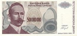 BOSNIA  P.158    500.000.000  Dinars 1993 Unc - Bosnia Erzegovina