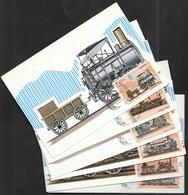 Cuba 1986 / Locomotives / Early Locomotive In England, Canada, Russia, France, Belgium, United States / Trains / MC - Eisenbahnen