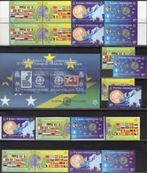 50 Years CEPT Salomon Block 85,Bosnia 419/2A/B,ZD+ 2x 4-Block ** 81€ Stamps Andorra 199,B 1254 Blocs Sheets Bf 2005 - Joint Issues