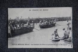 MILITARIA - Campagne Du MAROC : Les Bateliers Du Génie En Promenade Sur Le Lac MOULOUYA. - Guerres - Autres