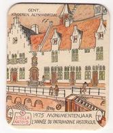 Bierviltje - Stella Artois - Monumentenjaar 1975 - GENT Kinderen Alynshospitaal - Sous-bocks