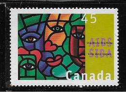 CANADA, 1996, USED  # 1603,   A IDS  AWARENESS: One World, One  Hope - 1952-.... Règne D'Elizabeth II