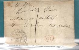 Aisne - Le Catelet . Lettre Locale De 1836 - Marcofilie (Brieven)